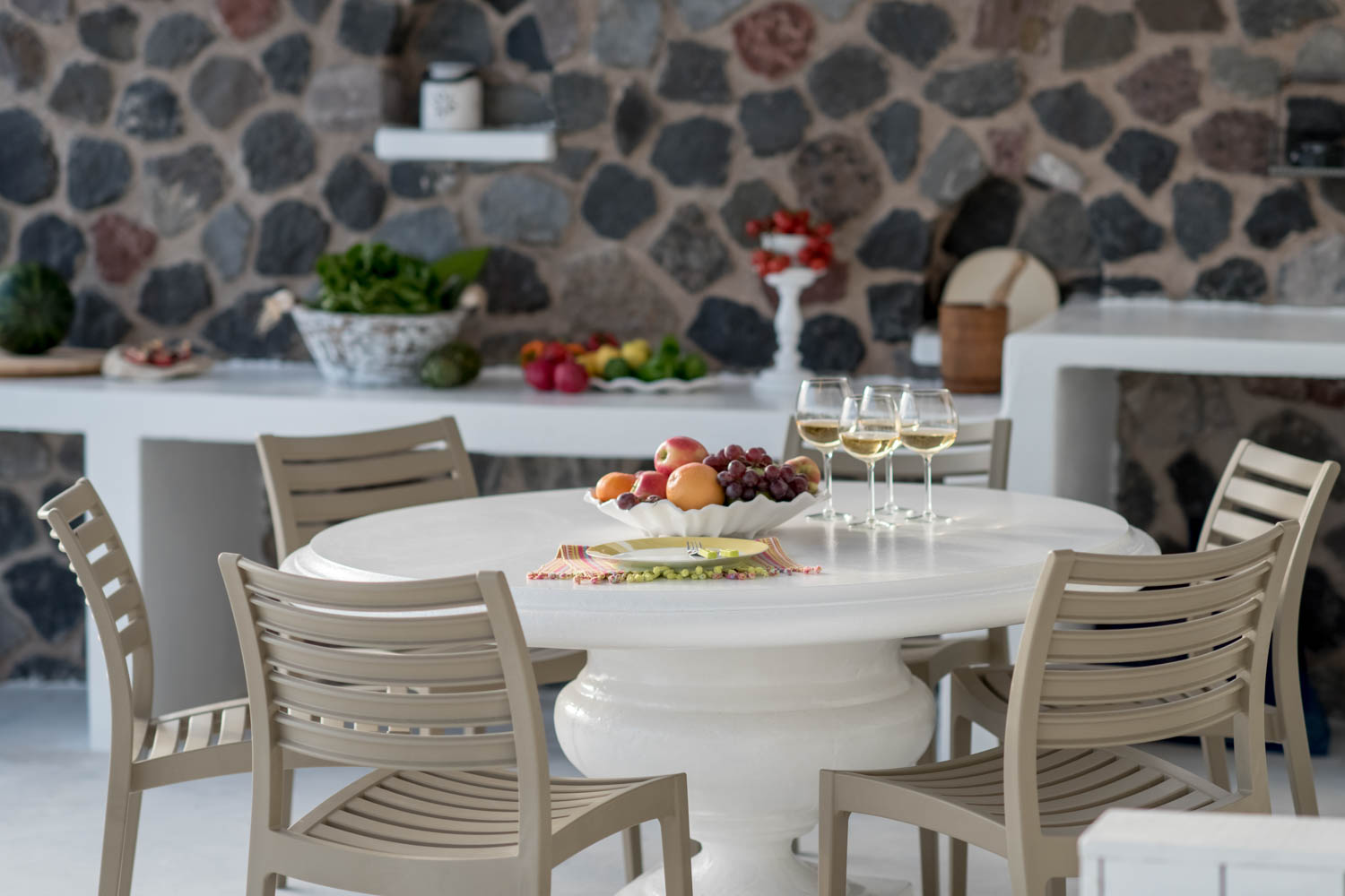 Ode Villa in Oia of Santorini Outdoor Dining table
